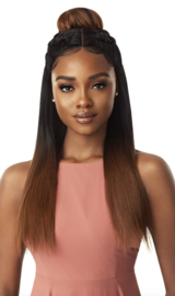 Outre Synthetic SWISS X Vixen Pre-Styled Lace Front Wig Tavia Yaki - HT