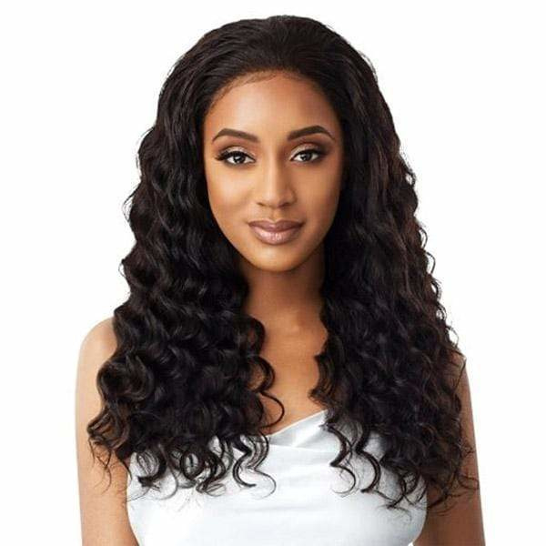 Outre Virgin Human Hair Mytresses Platinum Label HD Full Lace Wig - NATURAL LOOSE DEEP