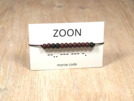 Morse code armband zoon