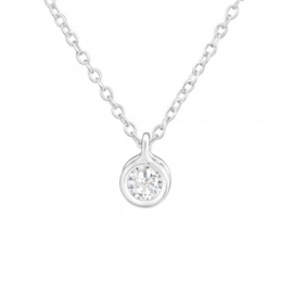 Ketting mini crystal- 925 sterling zilver