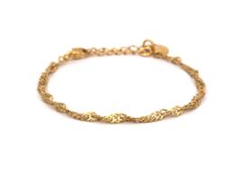 Armband twirl rvs (zilver,goud)