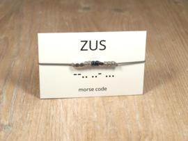 Morse code armband zus