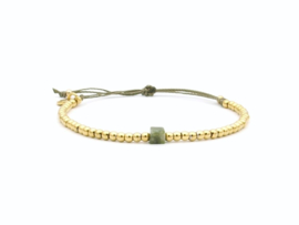 Armband cube, jade (rvs zilver of goud)