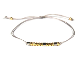 Morse code armband bff RVS