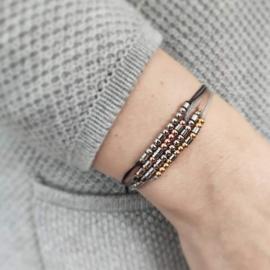 Morse code armband persoonlijk RVS