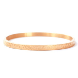 bangle rvs- luipaard rosé goud