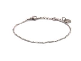 Armband rvs mini dots (zilver,goud)