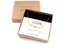Ketting morse code Love