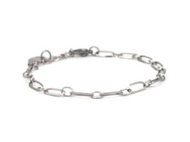 Armband rvs grote schakel (zilver,goud)