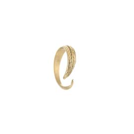 Ring leaf goud, rvs