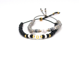 Naam-Initialen armband miyuki kralen