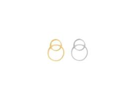 Oorbellen hanger cirkels, rvs zilver of goud plated