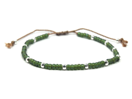 Armband chartreuse groen- 925 sterling zilver