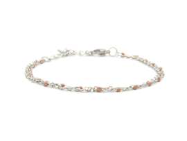 Armband rvs double nude (zilver,goud)