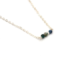 Ketting chrysocolla, 925 sterling zilver