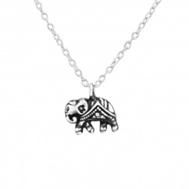 Ketting olifant- 925 sterling zilver