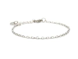 Armband rvs mini schakel (zilver,goud)