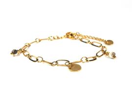 Bedel armband jade (zilver,goud)