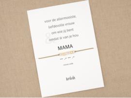 Morse code armband mama goud