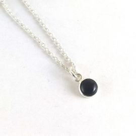 Ketting onyx, 925 sterling zilver