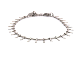 Armband rvs spikes (zilver,goud)