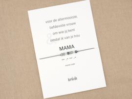 Morse code armband mama zilver