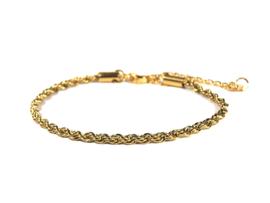 Armband twist rvs (zilver,goud)