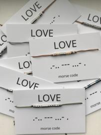 Morse code armband love RVS