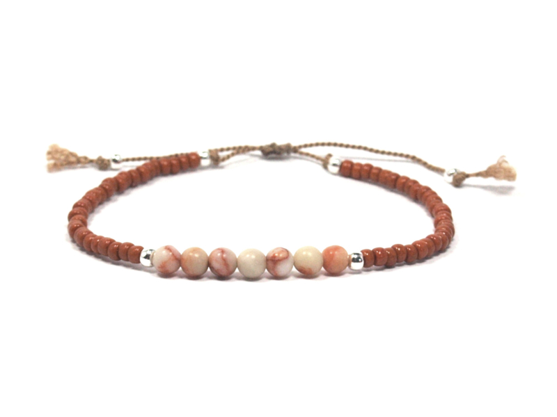 Armband marble blush coral- 925 sterling zilver