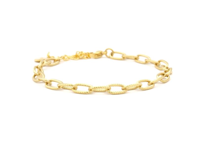 Armband rvs anker schakel (zilver,goud)