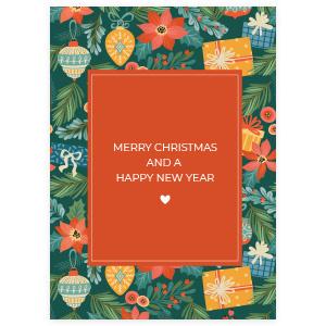 Kaart merry christmas