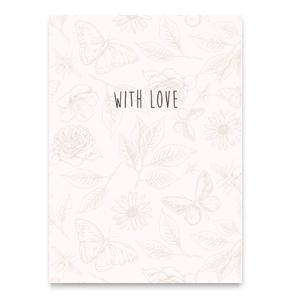 Kaart with love beige
