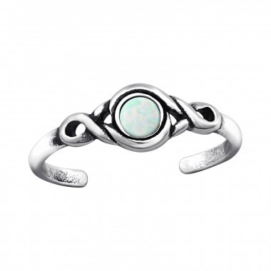 Teenring steentje fire snow-925 sterling zilver