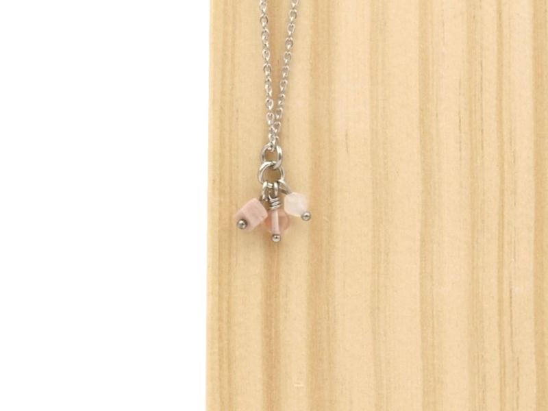 Ketting San roze, zilver