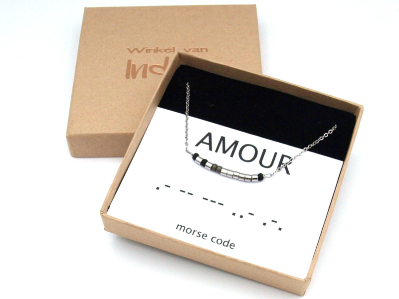 Ketting morse code amour