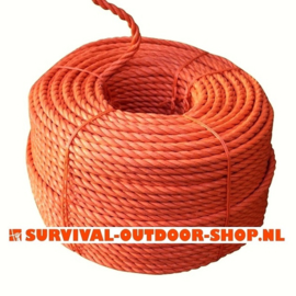 18 mm oranje polyprop tros 220 mtr. Outlet.