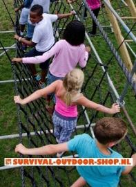 Klimnet / touwbrug 2,5x6 mtr € 50,-