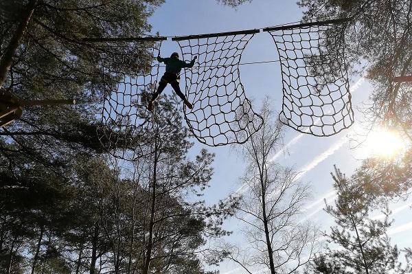 Klimnet hoogteparcours