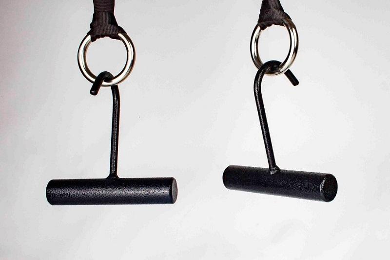 Set van 2 Ninja hooks en 4 ringen met montagebanden