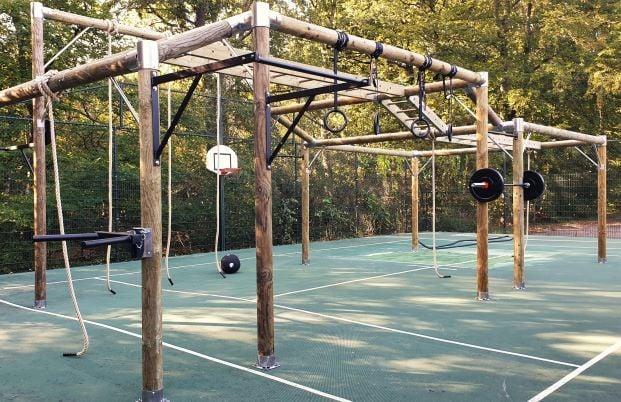 Toestel voor obstaclerun, bootcamp en fitness