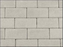 Halve Betonklinker 6 cm grijs per laag