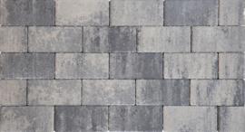 Design Brick 6 cm nero grey mini facet deklaag