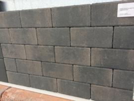 Design Brick 6 cm Dark Sepia mini facet deklaag