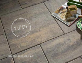 Patio mixed grigio camello 4 cm