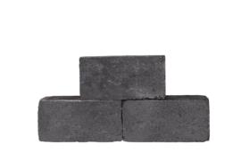 Linea getrommeld 15x15x30 cm antraciet