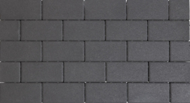 Design Brick 8 cm black mini facet deklaag
