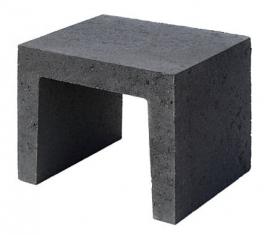 U element 40x40x50 cm zwart