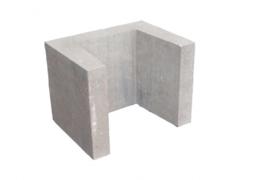 U element 40x40x50 cm grijs