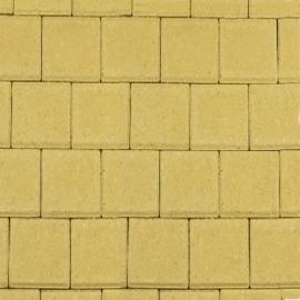 Halve betonklinker 8 cm geel