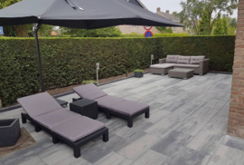 Patio Square 40x80x5 Nero Grey